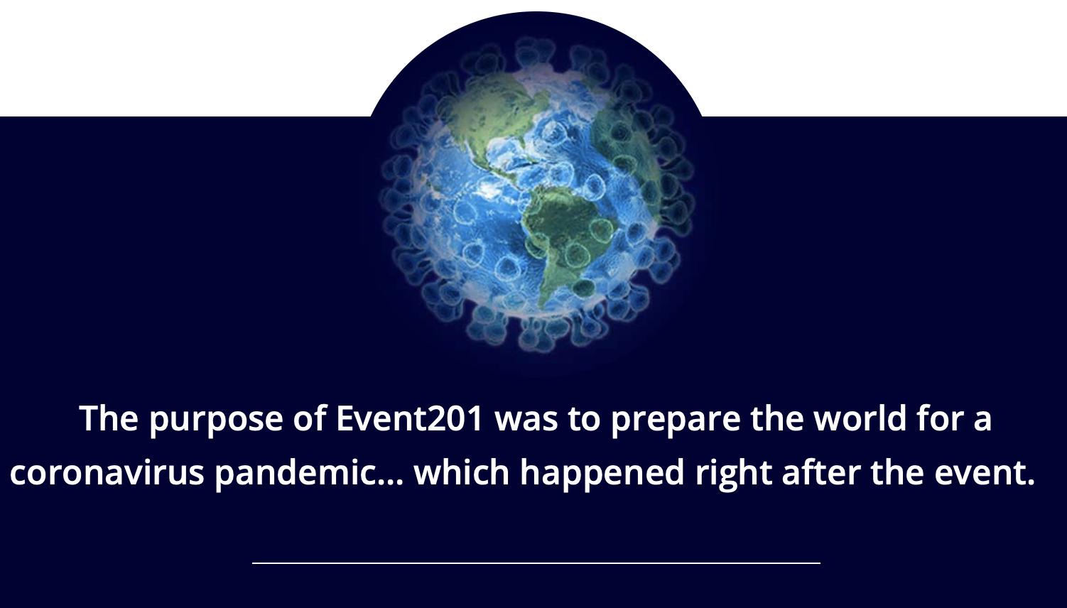 Coronavirus événement 201