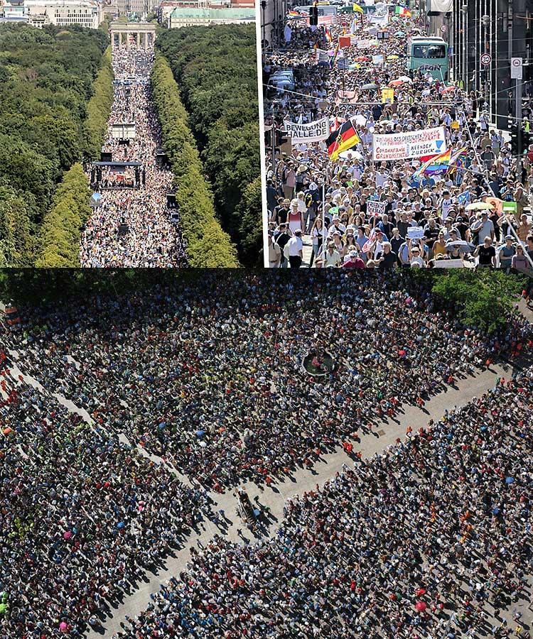 Manifestation pandémique prévue berlin