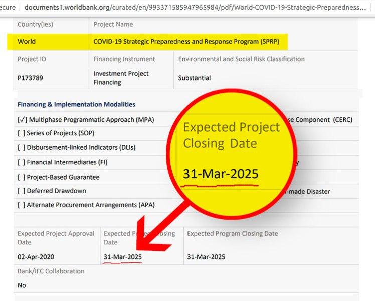 programme prévu covid 2025